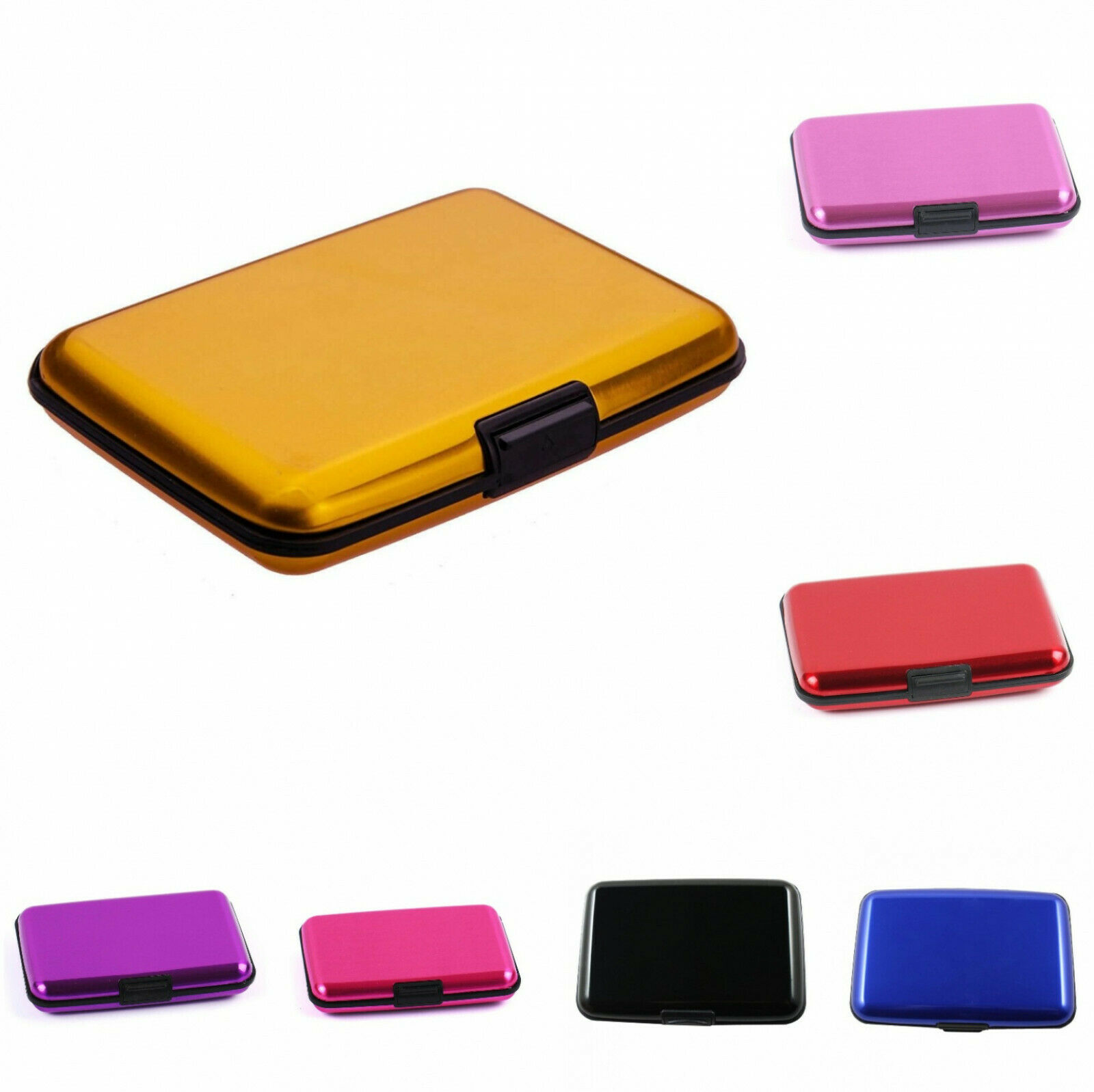 Fashion Portable Aluminum Wallet Case Holder Business ID Credit Card Name Card