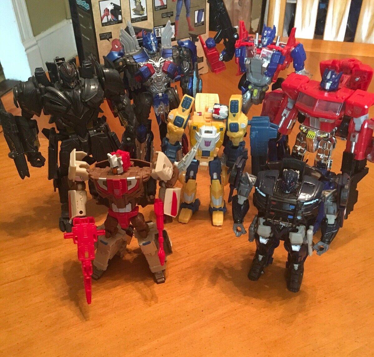 Hasbro Transformers Lote Mixto De 7  Optimus Megatron barricada Chromedome y más