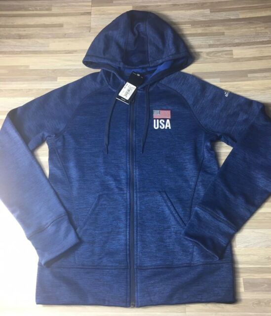 75 Adidas Team Issue USA Women s Size SMALL Climawarm Full-Zip Hoody  CV2265 NWT 03f19e3339