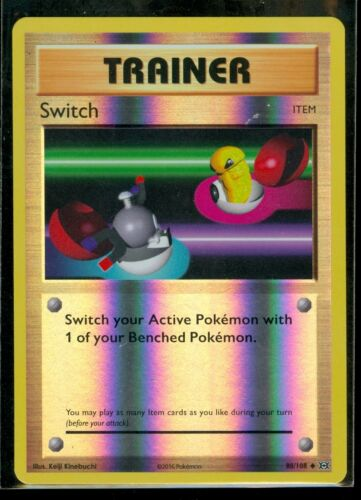Pokemon SWITCH 88//108 MINT XY Evolutions Rev Holo