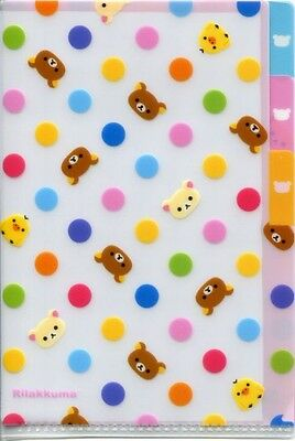 San-X Rilakkuma Relax Bear Index 3 Pockets A6 Mini Plastic File Folder #12