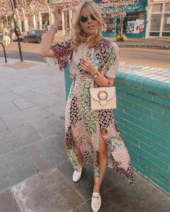 86fc6069d2 Topshop AUSTIN Floral Print Angel Sleeve Midi Dress All UK sizes 4 ...