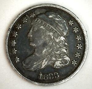 1833-Argent-Mancheron-Buste-Dime-Nous-Type-Piece-de-Monnaie-Debut-10-Centimes-XF
