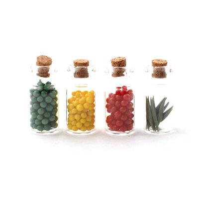 4 Unidades # 1:12 Para Muñecas Nuevo Dolls House 4247 Glasses Con Bonbones