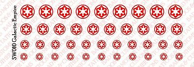 Waterslide Decals 1//18 Scale Tattoos Star Wars Galactic Empire and Republic