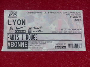 COLLECTION-SPORT-FOOTBALL-TICKET-PSG-LYON-11-JANVIER-2000-Champ-France