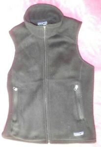 Patagonia-Synchilla-Black-Fleece-Vest-Full-Zip-Women-039-s-Size-Small-Two-Zip-Pocket