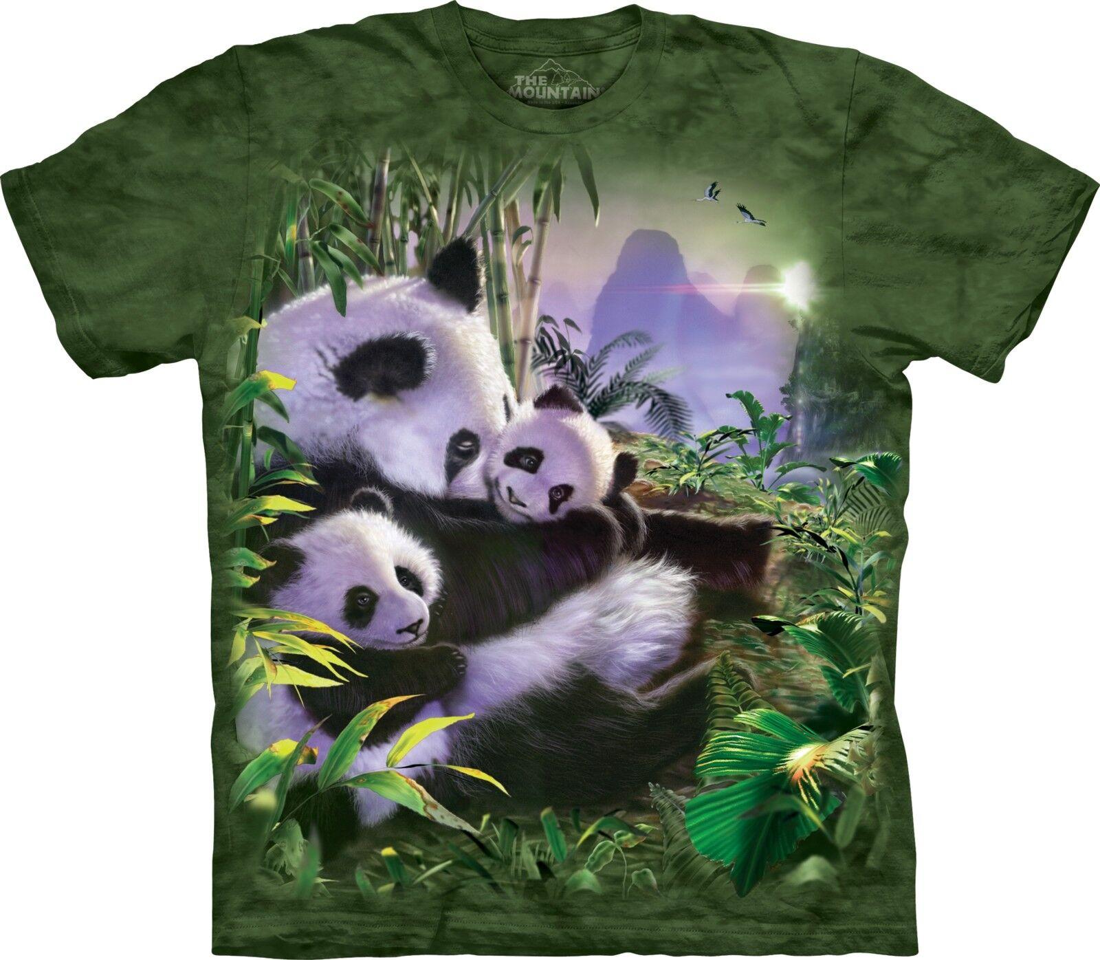 The Mountain Unisex Adult Panda Cuddles Animal T Shirt