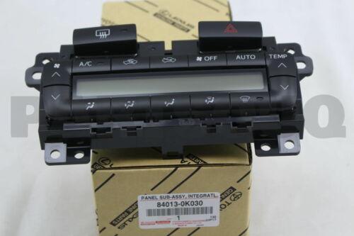 840130K030 Genuine Toyota PANEL SUB-ASSY INTEGRATION 84013-0K030
