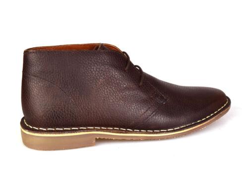 Red Tape Gobi Leather Chocolate Men/'s Desert Boots UK 7-12