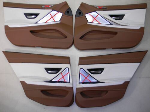 BMW F06 Door Panel Front Rear Door Panels Leather Individ Opal White Br