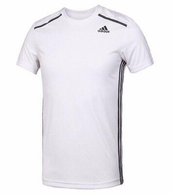 Uomo nuove ADIDAS COOL 365 Running T shirt top palestra Fitness Training Palestra Bianco   eBay