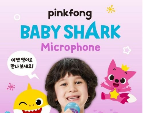 Pinkfong Baby Shark Mike Wireless Singing Microphone Songs Toy English Korean