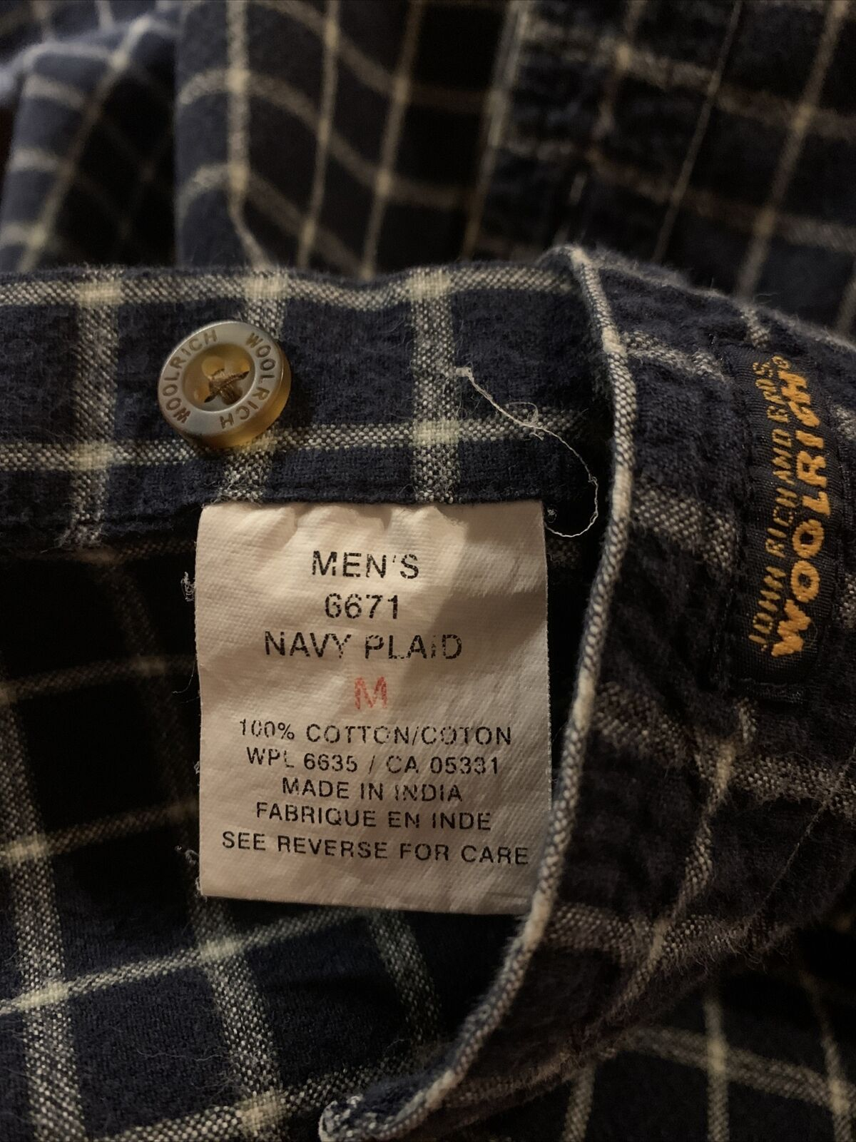 Vintage Men's WOOLRICH JOHN RICH AND BROS.  Shirt… - image 4