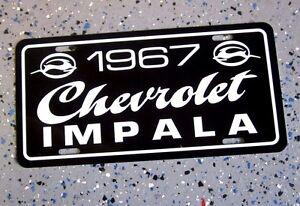1967 Chevrolet IMPALA license plate car tag 67 Chevy super sport 327 ss 396
