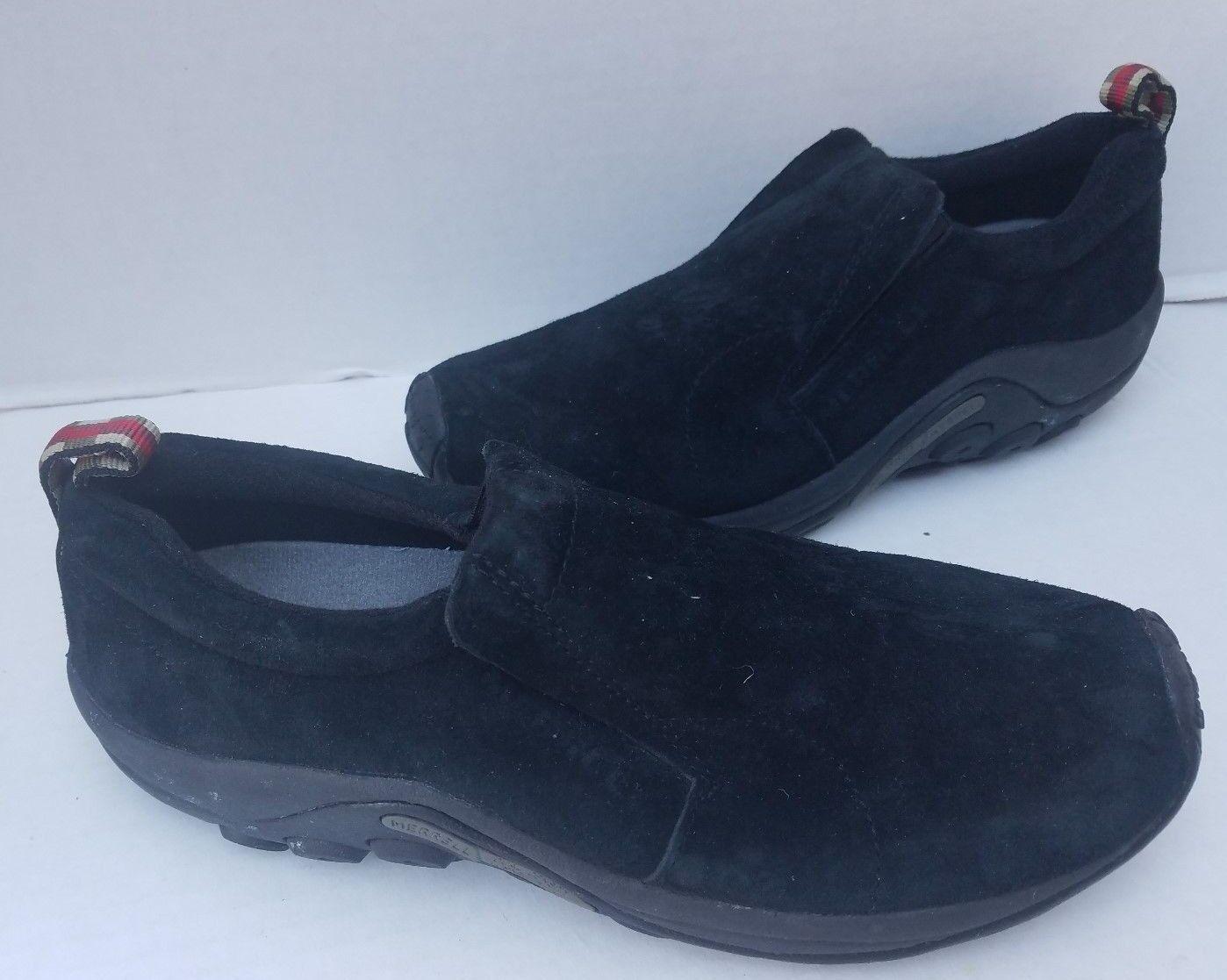 negozio online Merrell Jungle Moc Moc Moc donna nero Suede Leather Loafers Dual Density 11 US 42.5  stanno facendo attività di sconto
