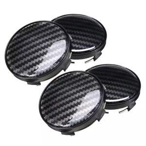4x-60mm-carbon-fiber-negro-embellecedores-llantas-tapa-tapacubos-Black-Caps-nuevo