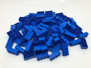 New-Lego-100-Classic-Blue-2x4-Bricks-Parts-Pieces-3001