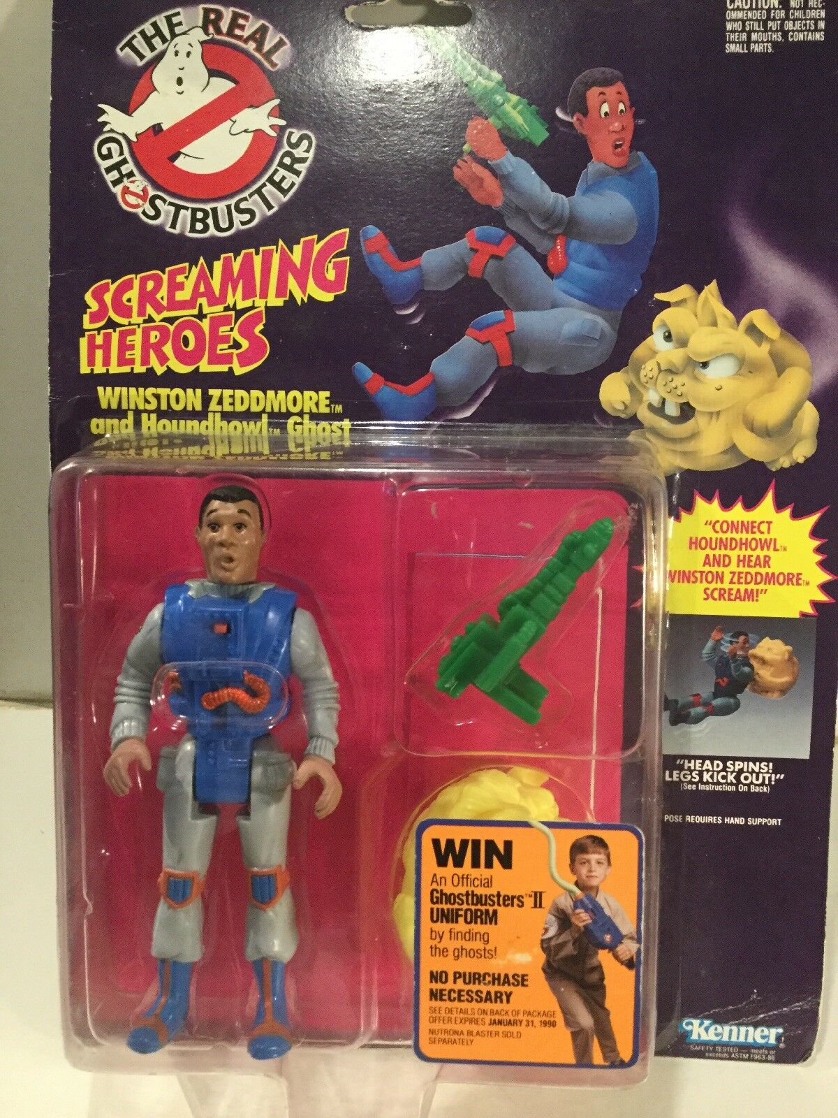 1980's Kenner The Real Ghostbusters Winston Zeddmore & Houndhowl  Ghost Sealed