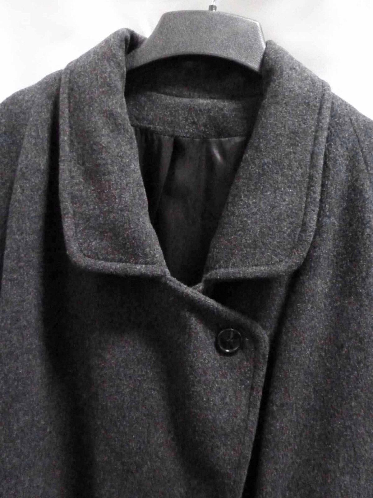Vintage Gray Wool Top Coat Warm Heavyweight Overc… - image 2