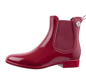 Womens Fashion Elastic Slip On Short Rain Boots
