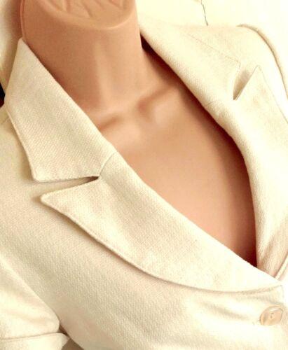 New Wedding Fit Dorothy Smart Tailored Perkins Cream Jacket Formal Blazer 10 rraq7