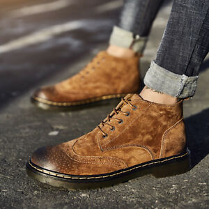 Mne-Ankle-Boots-Loafers-Flats-Shoes-Mens-Casual-Oxford-Leather-Shoes-Lace-Up