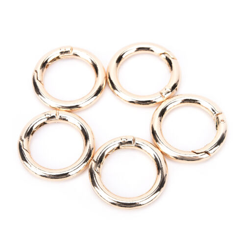 5x Circle Round Carabiner Hook Keyring Buckle 28mm Snap Clips Keychain 9K