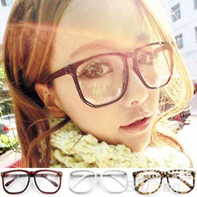 Unisex Splendid Good Oversized Tortoise Shell Nerd Geek Clear Lens Plain Glasses