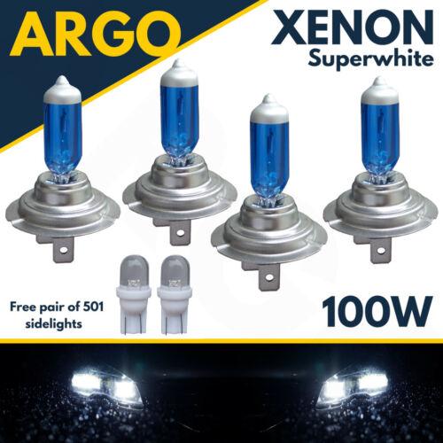 4 X H7 100w Super White Xenon Upgrade Headlight Bulbs Set 499 12v Full//dipped