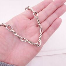 Solid silver fine large Georg Jensen heavy chain necklace, 109.8 grams, 925