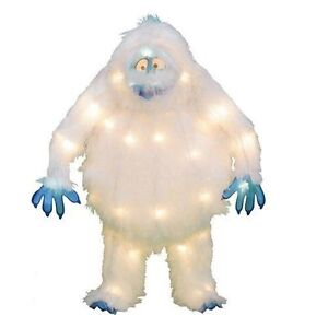 Bumble Rudolph Abominable Snowman Yard Tinsel Sculpture 18 Pre Lit