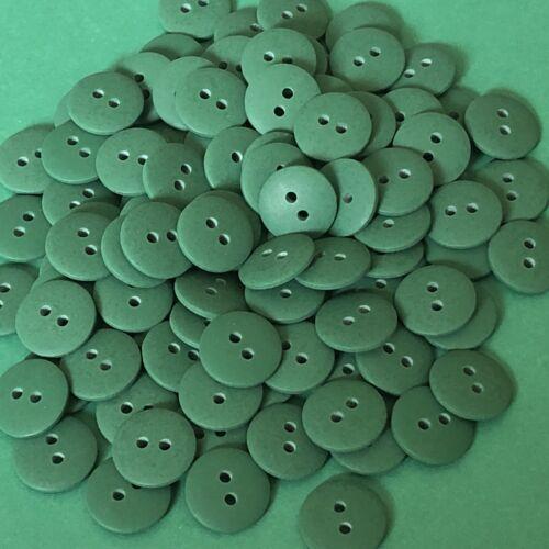 20 x 15mm Green Smartie Buttons #1167