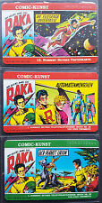 Tarjetas telefónicas Juego Hethke Comic Arte O mint/ 3x Raka 1084-86 + de visita