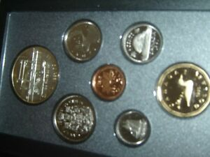 7 Coins Cent to Silver Dollar Mint Set 1989 Canada Proof Double Dollar Set