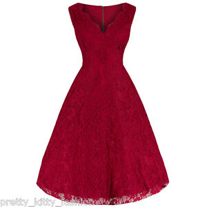 Pretty-Kitty-Rojo-Encaje-Anos-50-Bordado-Rockabilly-Swing