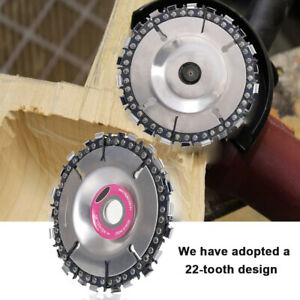 4/'/' 22 Tooth Angle Grinder Disc Tooth Chain Saw Carving Culpting Wood Work Tool