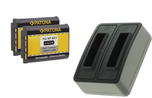 DUAL caricatrici incl 2x Patona Batteria per Sony dsc-rx100m4//np-bx1