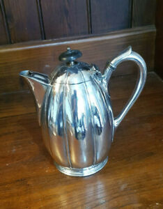 Antique Philip Ashberry Sheffield Silver Plated EPBM Coffee Pot