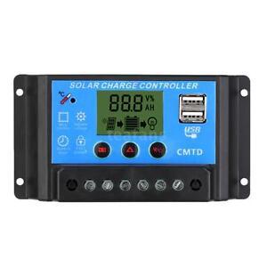 PWM Adjustable Solar Charge Controller Auto Regulator Timer 12V/24V 10A/20A K4O0