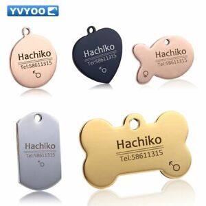 Engraved-Dog-Collar-Tag-Customized-Stainless-Steel-Pet-Tags-Name-ID-Number-Pet
