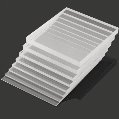 Clear 2//4pcs Plaque de découpe laser en Plastique Feuille Acrylique Verre épais 2//4//5//6//8//10mm