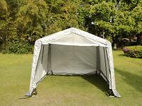Auto Shelter Logic Portable Car Garage Storage Shed Canopy Carport Gray Tent