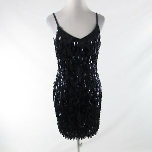 Black-100-silk-BERGDORF-GOODMAN-sequin-beaded-spaghetti-strap-bodycon-dress-8