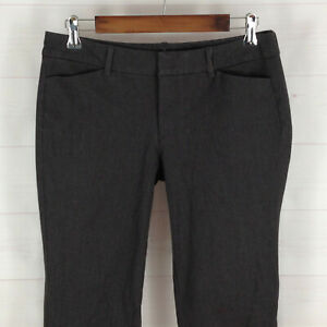 Old Navy Pixie womens size 8 stretch gray mid rise flat front soft tapered pants