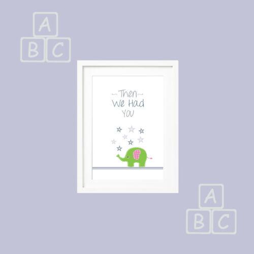 Nursery Wall Art Elephants set of 3 Prints for Baby Boy Girl Ideal Gift keepsake