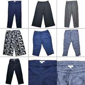 Lot 7 Womens Elastic Waist Pants Size XL Casual Dress Pull On Slacks Capri Summe