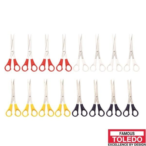 TOLEDO Household Scissors - Premium Option Stainless Steel 12 Pc TLSH160SSB x12