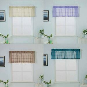 Valance-Curtains-Extra-Wide-Short-Window-Treatment-Kitchen-Living-Bathroom-UK