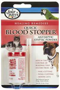 8b7e3ff76cd4 FOUR PAWS BLOOD STOPPER POWDER .5 OZ QUICK STOP ANTISEPTIC DOG CAT ...